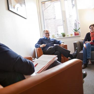 Gespräche mit Familien- ein zentraler Punkt unserer Arbeit