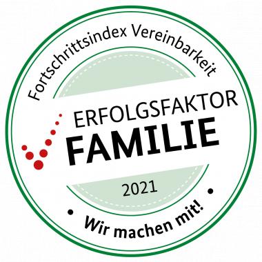 Gemeinsam mit dem Fortschrittsindex Vereinbarkeit entwickeln wir unsere familienfreundliche Unternehmenskultur stetig weiter.