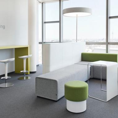 Unser Lounge-Bereich am Standort Wien.