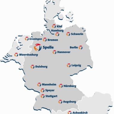 Deutschlandweit und im Ausland vertreten und für unsere Kunden unterwegs