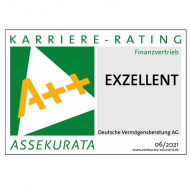 Auszeichnung Assekurata Karriere-Rating 2021