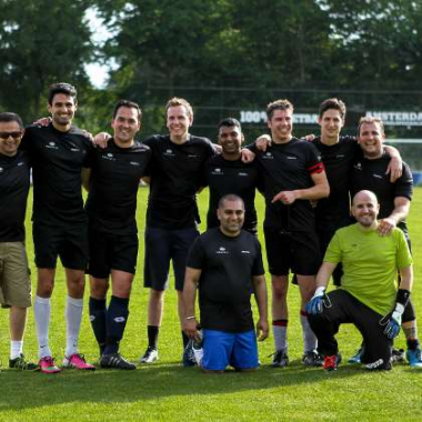Amsterdam (Netherlands) - Employees meeting up for a football match