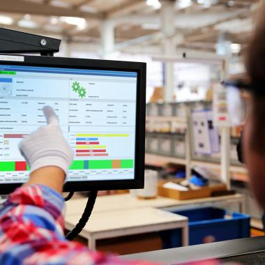 Ansicht unserer Softwarelösung FASTEC 4 PRO: Monitoring in der Fertigung