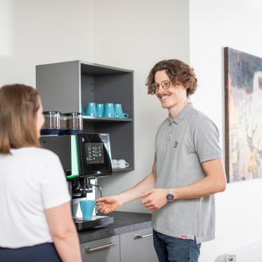 Kostenlose Getränke - Kaffeespezialitäten, Tee und Wasser