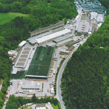 Der Stammsitz der Unternehmensgruppe Schmidt + Clemens im Oberbergischen Lindlar.