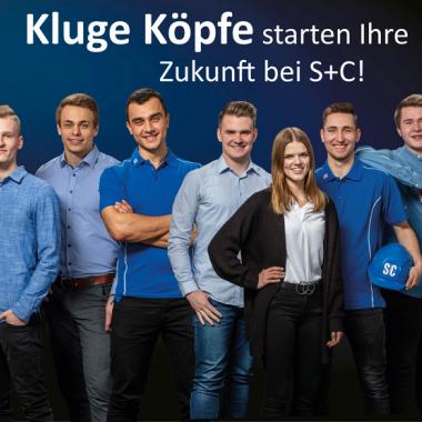 Kluge Köpfe starten ihre Zukunft bei S+C: Jetzt bewerben für eine Ausbildung ab 2022!