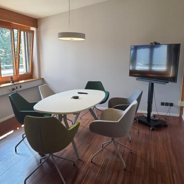 Unser neu gestalteter Konferenzraum im Office Tägerwilen