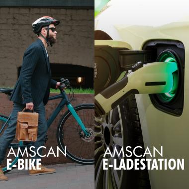 Durch AMSCAN-ECO haben wir E-Ladestationen für die E-Bikes und E-Autos unserer Mitarbeiter und zusätzlich das Amscan-E-Bike zum kostenlosen Verleih. Ob in die City oder auf den nächsten Berg. #...