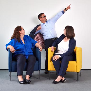Die Geschäftsführung von sepp.med: Barbara Bilen, Florian Prester, Maria Engelmayr (v.l.)