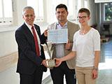 Verleihung Spitalrose VSAO, 3.7.2017, Dr. oec. HSG Arnold Bachmann, Daniel Schröpfer, Patrizia Kündig (v.l.n.r.)