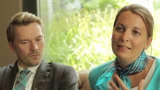 Die Human Resources Managerin Kerstin Winkelmann und der Director of Operations Daniel Mü...