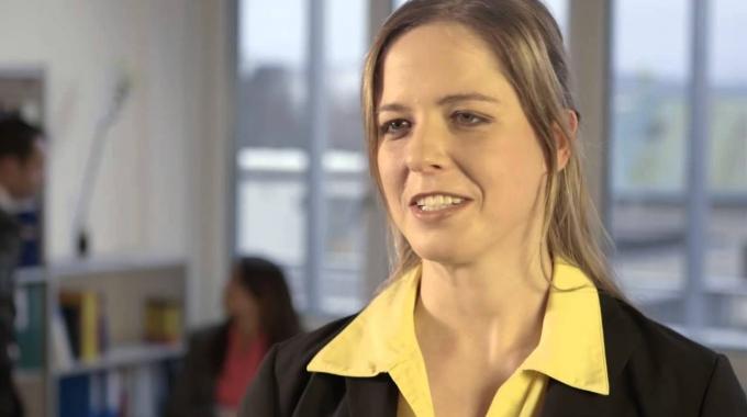 Versicherungsmathematikerin Caroline zum internationalen Austausch