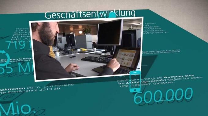 Animation: PostFinance AG Geschäftsbericht 2013