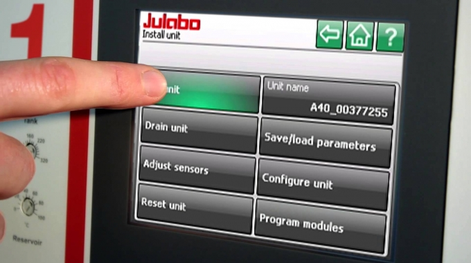 Filling of JULABO PRESTO ®