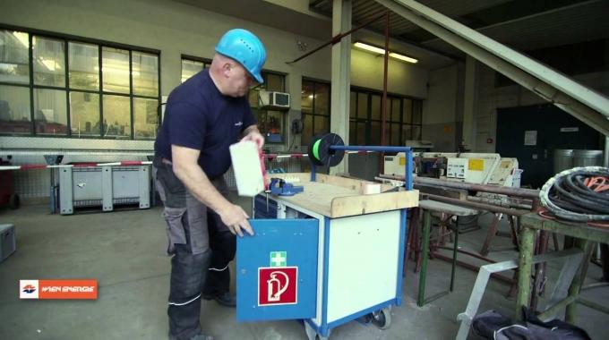 Sprengreinigung in der Müllverbrennungsanlage