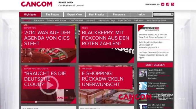 Vorstellung CANCOM.info - das Business IT Journal