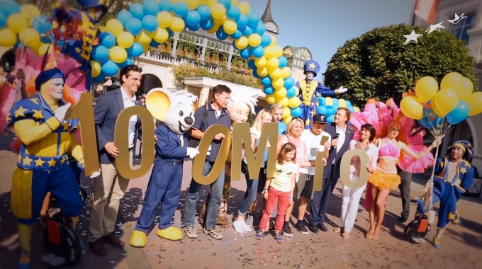 Europa-Park feiert den 100 millionsten Besucher