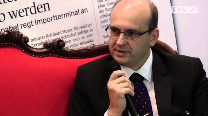 DLK 2014: Frank Tinschert auf dem Roten Sofa der DVZ