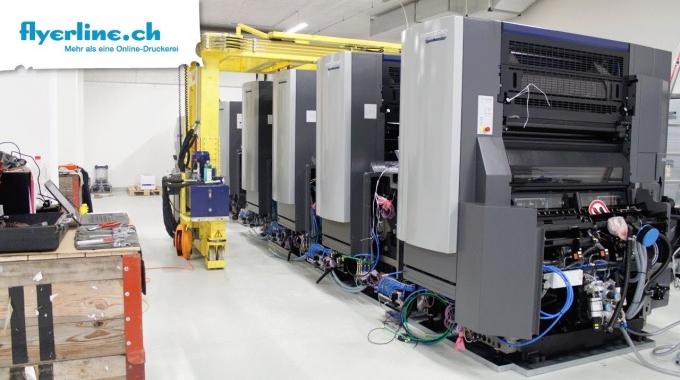 Anlieferung der neuen Heidelberg Offsetdruckmaschine