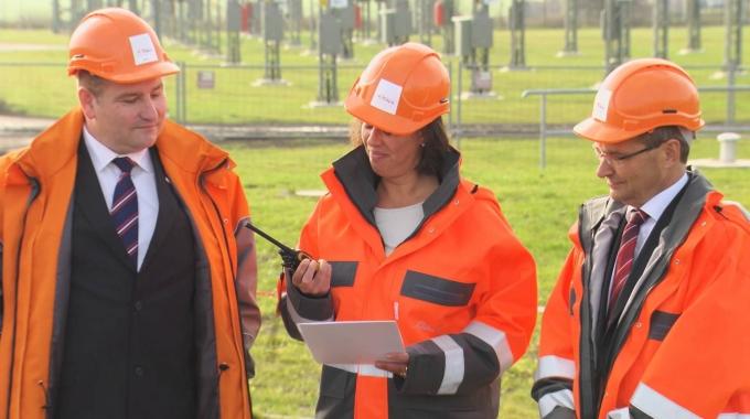 Inbetriebnahme des Umspannwerks Förderstedt (06.11.2014)