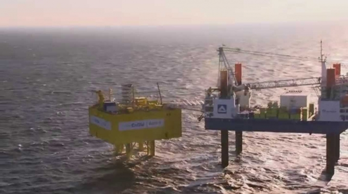 Offshore: Netz-Anschluss für den Windpark Baltic II (Januar 2015)