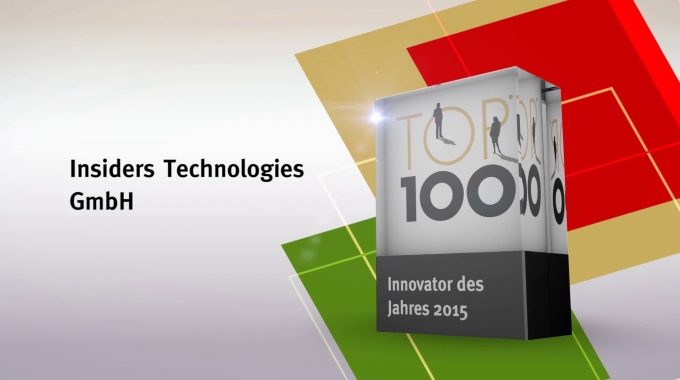 "Insiders Technologies ist ""Innovator des Jahres 2015"""
