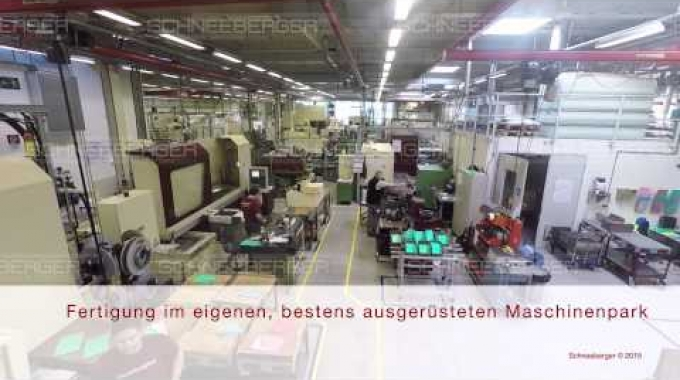 SCHNEEBERGER overview linear bearings and positioning systems German