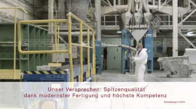 SCHNEEBERGER overview mineral casting German