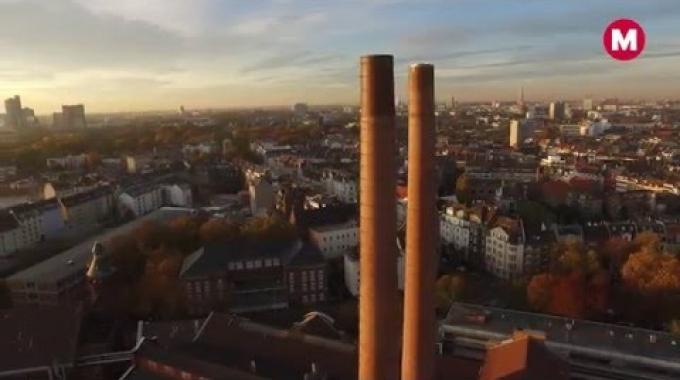 RheinEnergie - Drohnenflug Heizkraftwerk Zugweg // Meerzfilm