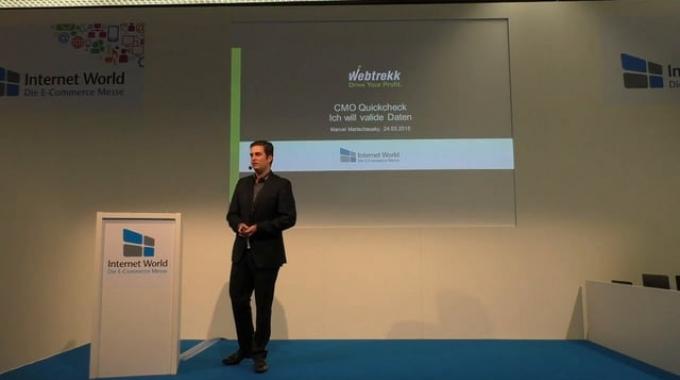 Webtrekk's Marcel Martschausky -- Internet World 2015