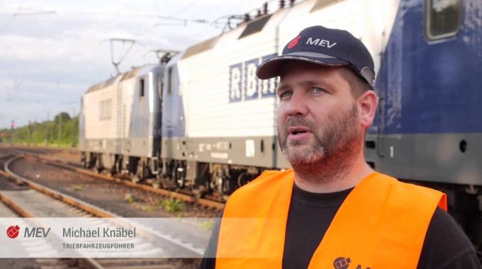 Lokführer bei der MEV Eisenbahn-Verkehrsgesellschaft mbH