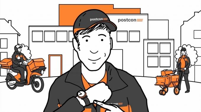 Zusteller bei Postcon