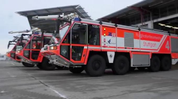 Allzeit bereit: die Feuerwehr am Flughafen Stuttgart