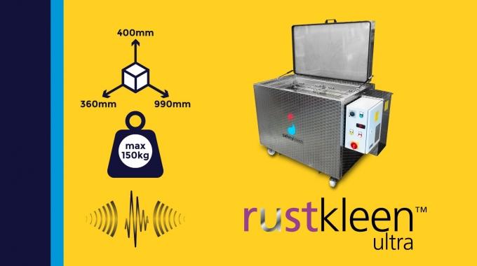 """""""Rustkleen Ultra"""" - hocheffiziente Metall-Entrostung mit Ultraschall"""