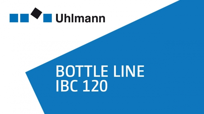 Uhlmann Bottle line IBC 120 / Flaschenlinie IBC 120