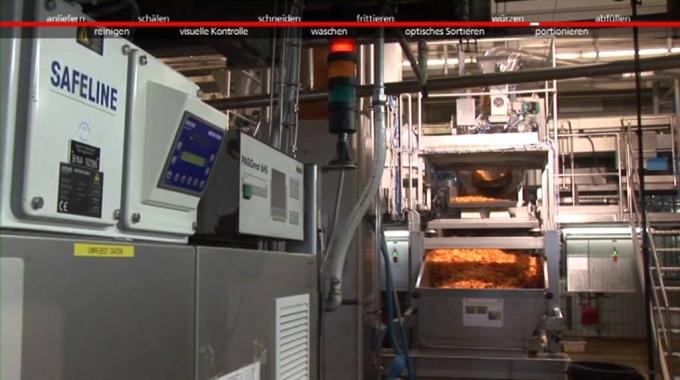 Herstellung Kartoffelchips