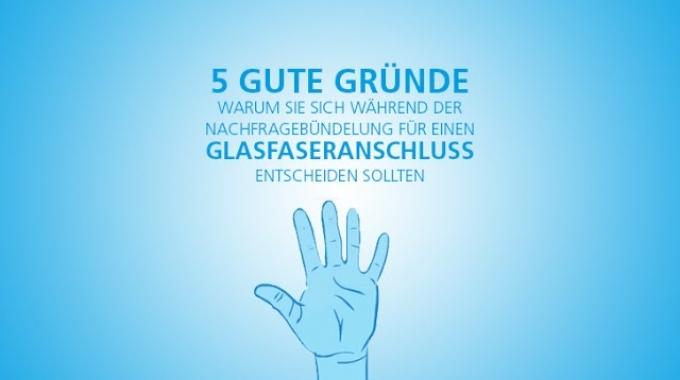 5 gute Gründe für einen Glasfaseranschluss (FTTH)