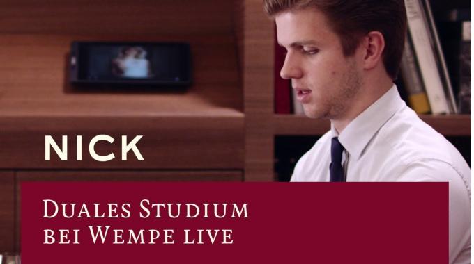 Duales Studium bei Wempe live – Nick