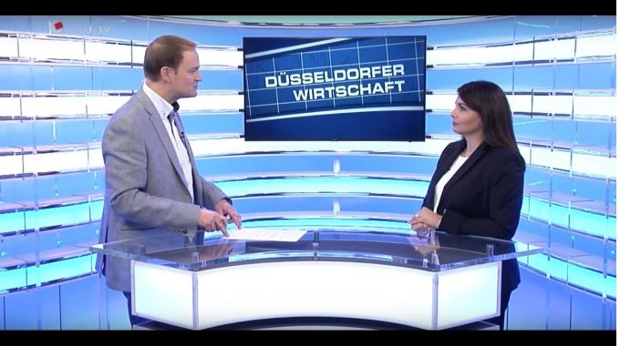 """Nicolette Unkhoff von Wiesmann bei der """"Düsseldorfer Wirtschaft"""" auf CenterTV"""