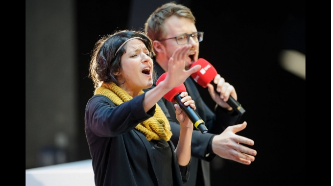 "Lars Ruppel & Dominique Macri – Poetry Slam ""Audiosphäre"""