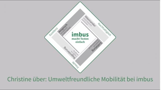 Christine über: Umweltfreundliche Mobilität bei imbus