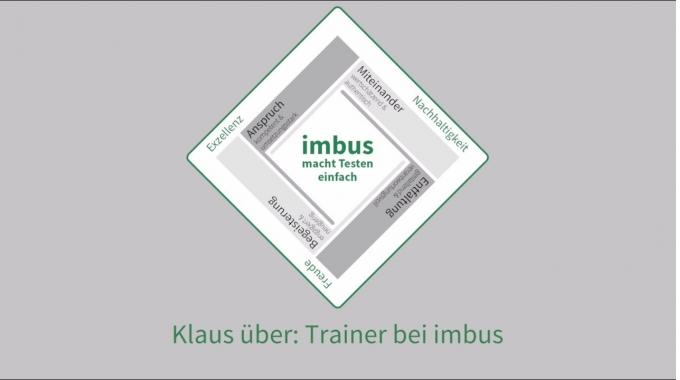 Klaus über: Trainer bei imbus