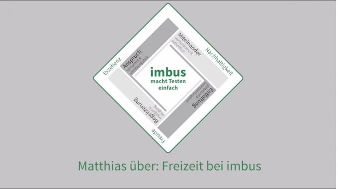 Matthias über: Freizeit bei imbus