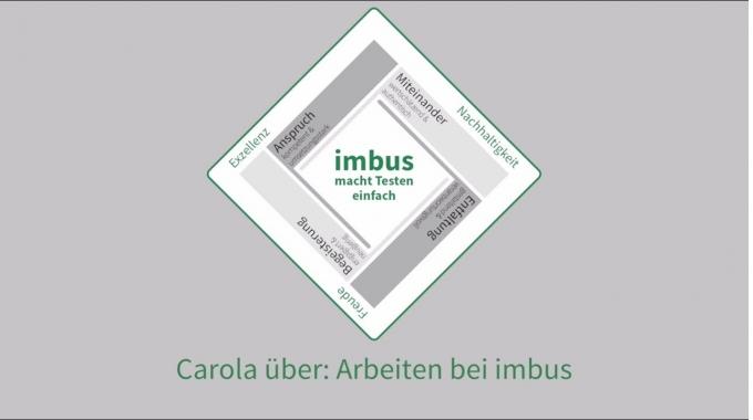Carola über: Arbeiten bei imbus