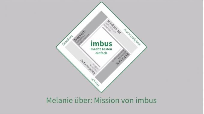 Melanie über: Mission von imbus