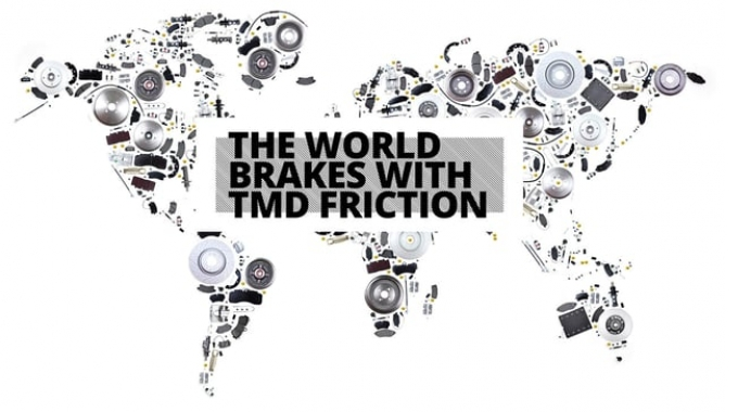 The world brakes with TMD Friction.