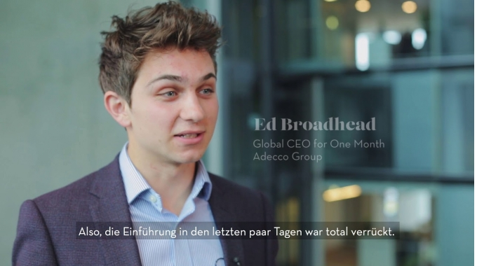 Der global CEO1Month 2017 Ed Broadhead zu Gast bei The Adecco Group Germany in Düsseldorf