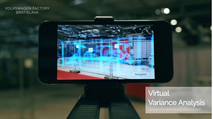 AR Indoor Navigation Demo at VW Bratislava