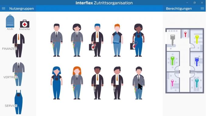 Zutrittsrechte managen mit Interflex