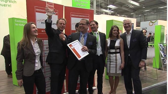 Innovationspreis IT Mittelstand 2014: Die Preisübergabe an Corporate Planning.